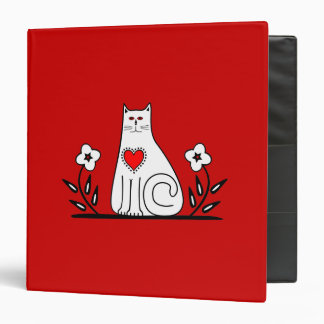 Country Cat 3 Ring Binder
