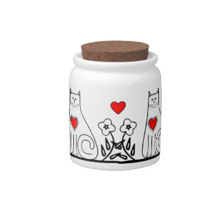 Country Cat Candy Jars