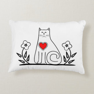 Country Cat Decorative Pillow