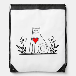Country Cat Drawstring Backpack