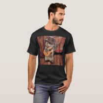Country Cat - guitarist Cat - funny cat T-Shirt
