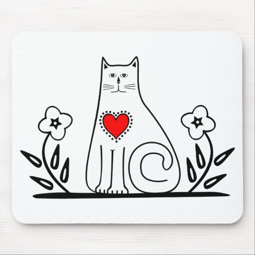 Country Cat Mouse Pad