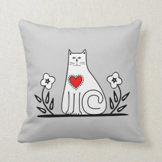 Country Cat Pillows and Home Decor