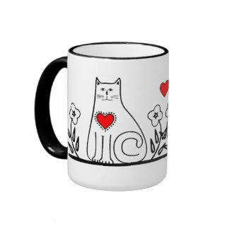 Country Cat Ringer Mug