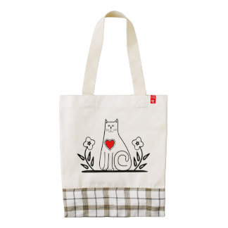 Country Cat Zazzle HEART Tote Bag