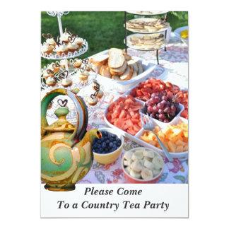 COUNTRY CELEBRATION TEA PARTY INVITATION