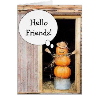 COUNTRY CHARM ACROSS MILES THANKSGIVING WISHES CARD