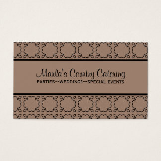Country Charm Business Card, Latte Business Card