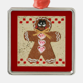 Country Charm Gingerbread Man Holiday Ornament