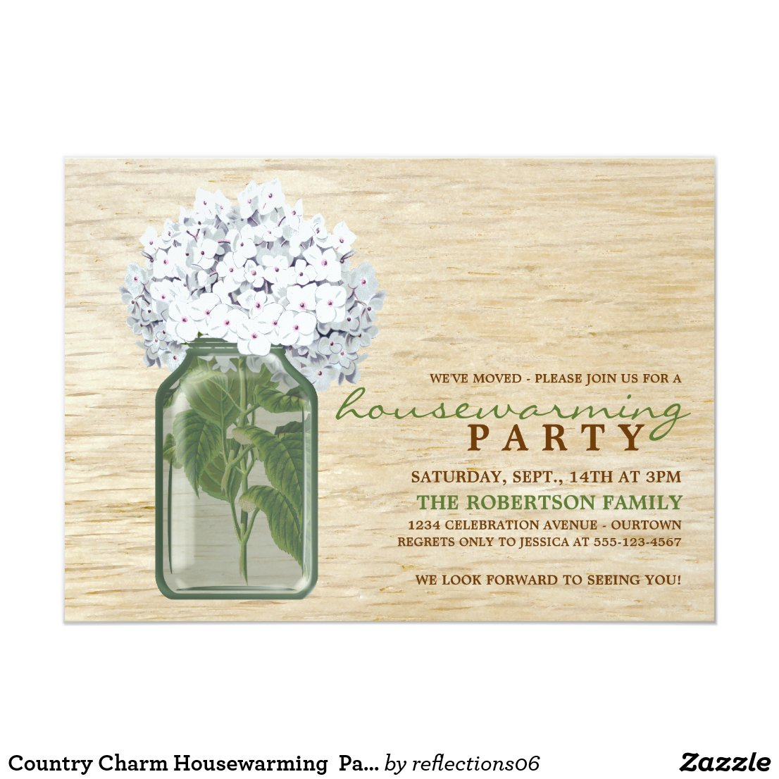 Country Charm Housewarming  Party Invitations