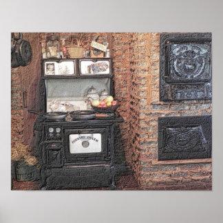 Country charm - kitchen - art print