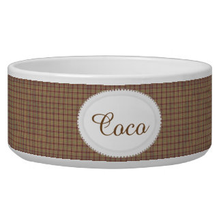 Country Charm Personalized Pet Bowl