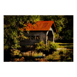 Country Charm -Poster - Covered Bridge Poster