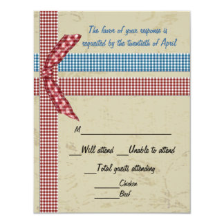 Country Charm RSVP Card