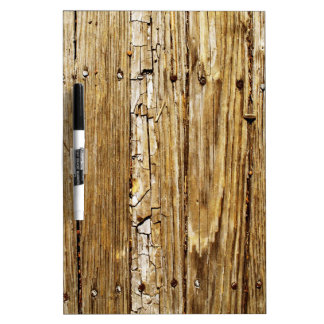 Country Charm Rustic Wood Planking Whiteboard