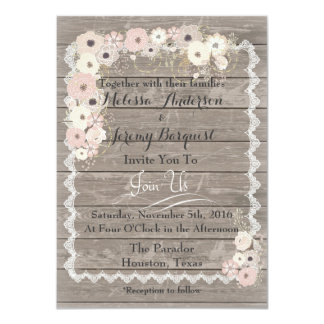 Country Charm Weathered Wood Wedding Invitations
