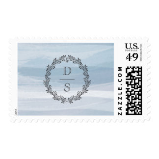 Country Charm Wedding Stamp with Custom Initials