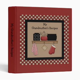 Country Check Recipe Binder 2