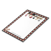 Country Check Recipes Notepad