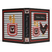 Country Checkered Kitchen Cooking Binder