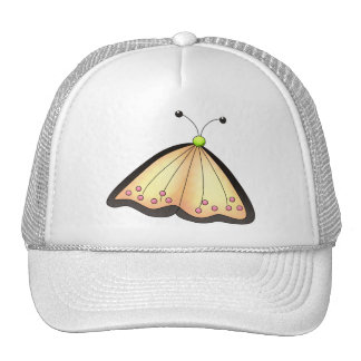 Country Cherries · Apricot Butterfly Trucker Hat
