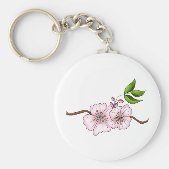 Country Cherries · Cherry Blossom Branch Keychain