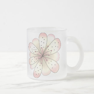 Country Cherries · Cherry Blossom 10 Oz Frosted Glass Coffee Mug