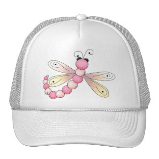 Country Cherries · Pink & Apricot Dragonfly. Trucker Hat