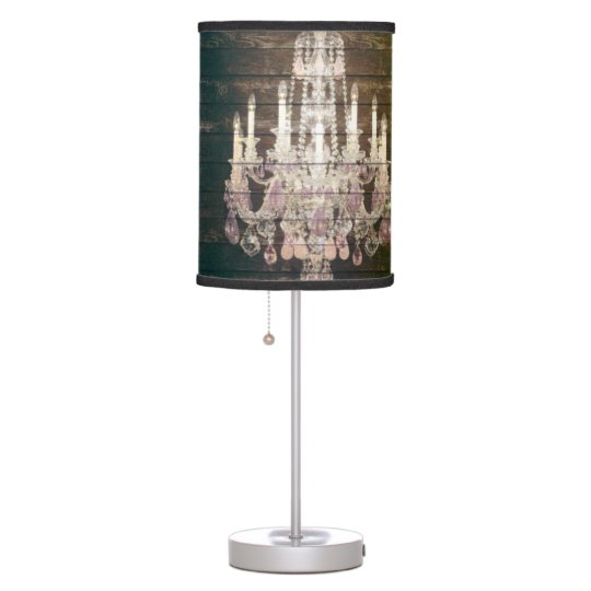 Country chic barn wood rustic vintage chandelier desk lamp zazzle country chic barn wood rustic vintage chandelier desk lamp aloadofball Choice Image
