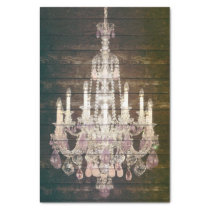 Country chic barn wood Rustic vintage chandelier Tissue Paper