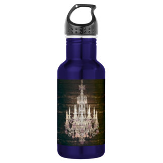 Country chic barn wood Rustic vintage chandelier Water Bottle
