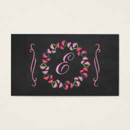 Country Chic Chalkboard Wreath Business Card