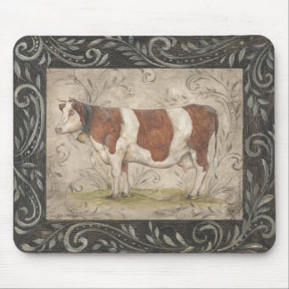 Country Chic Cow by Kate McRostie Mouse Pad