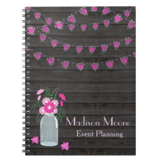 Country Chic Light Strings Event Planner Notebook