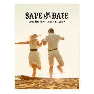 Country Chic | Photo Save the Date Postcard