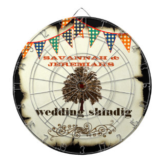 Country Chic Rustic Wedding Dart Board
