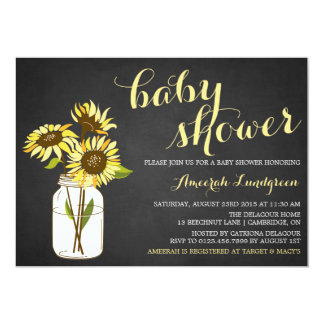 Country Chic Sunflowers Baby Shower Invitation