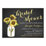 "Country Chic Sunflowers Bridal Shower Invitation 5"" X 7"" Invitation Card"