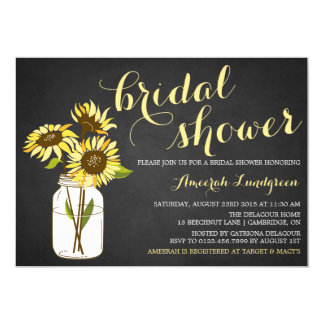 Country Chic Sunflowers Bridal Shower Invitation