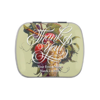 Country Chic Vineyard Jelly Belly Candy Tin