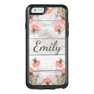 Country Chic Watercolor Floral Personalized OtterBox iPhone 6/6s Case