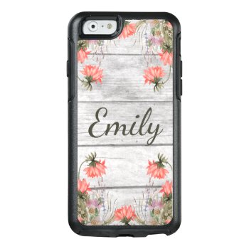 Country Chic Watercolor Floral Personalized Otterbox Iphone 6/6s Case by GiftShopOnline at Zazzle