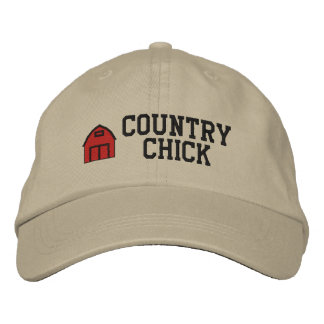 Country Chick Embroidered Hat