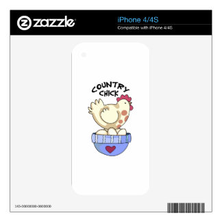 COUNTRY CHICK DECALS FOR THE iPhone 4