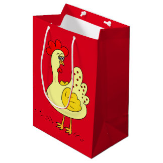 Country Chicken cartoon medium gift bag