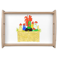 Country Chicken Clan Serving Tray