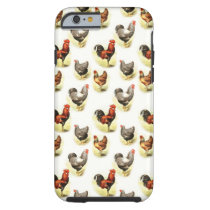 Country Chicken Pattern Tough iPhone 6 Case