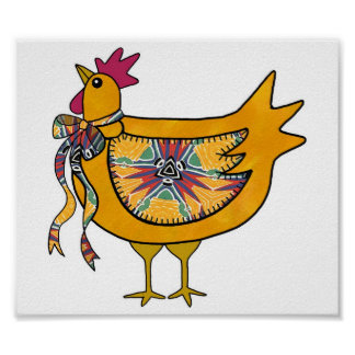 Country Chicken Print
