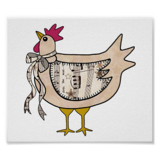 Country Chicken Posters