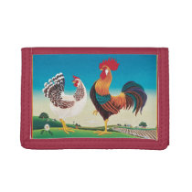 Country Chickens Tri-fold Wallet